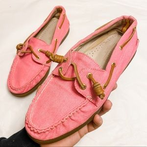 Sperry for J. Crew Bright Pink Top-Sider Size 8